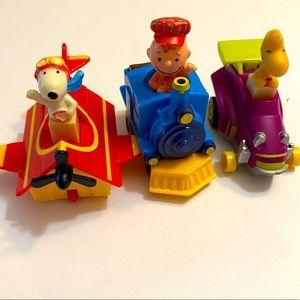 Vintage Peanut Happy Meal toy cars 1989